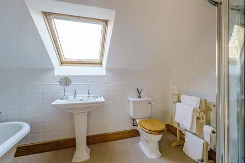 the en suite shower room in a dormer bugalow for sale with Rickitt Partnership